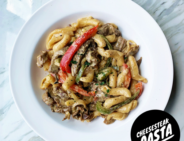 cheesesteak pasta