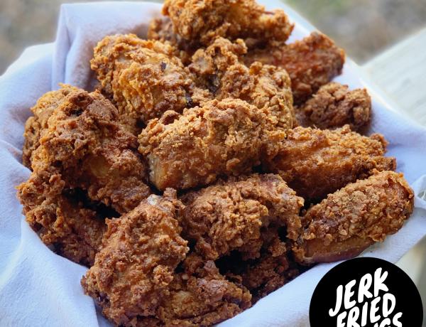 jerk fried chicken wings