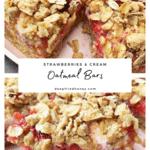 Strawberries & Cream Oatmeal bars