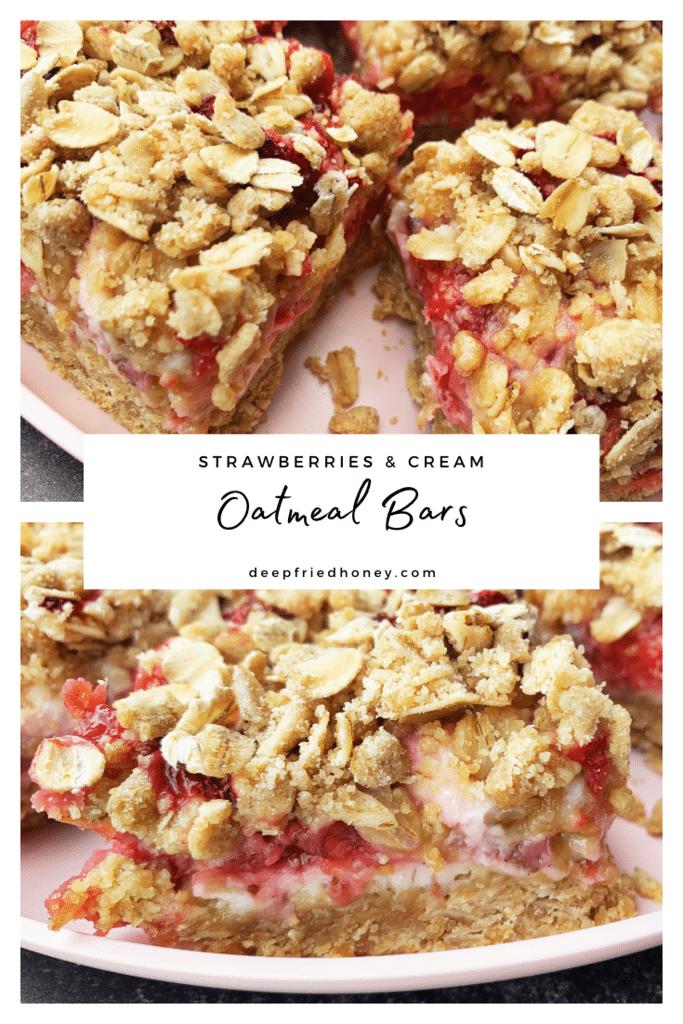 Strawberries and Cream Oatmeal bars