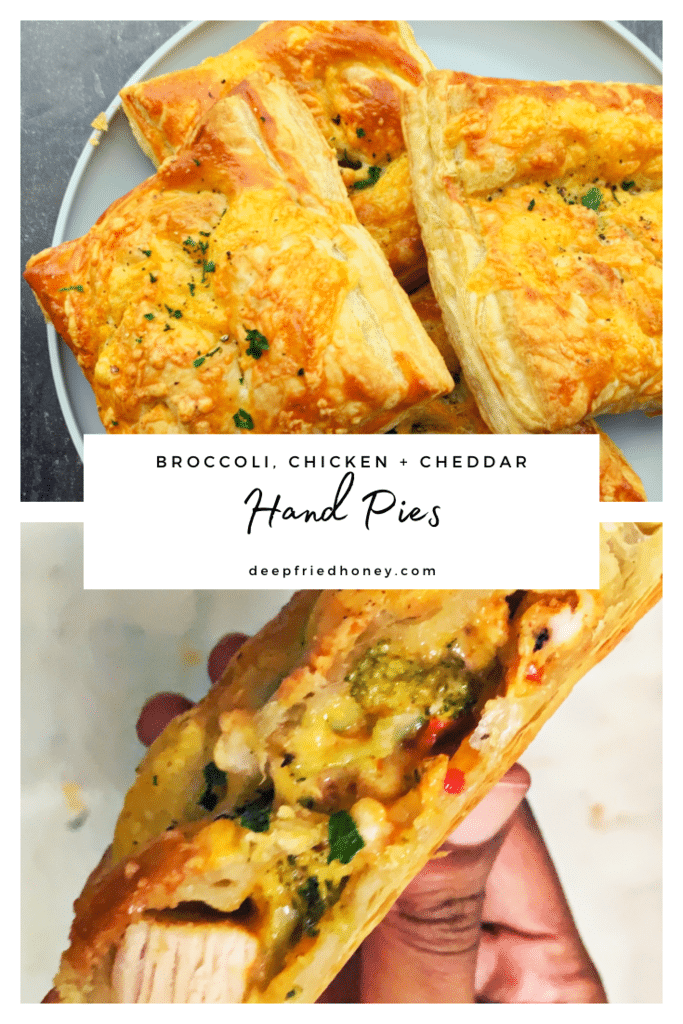 Broccoli Chicken and Cheddar Hand Pies
