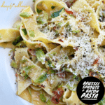 brussel sprouts and bacon pasta