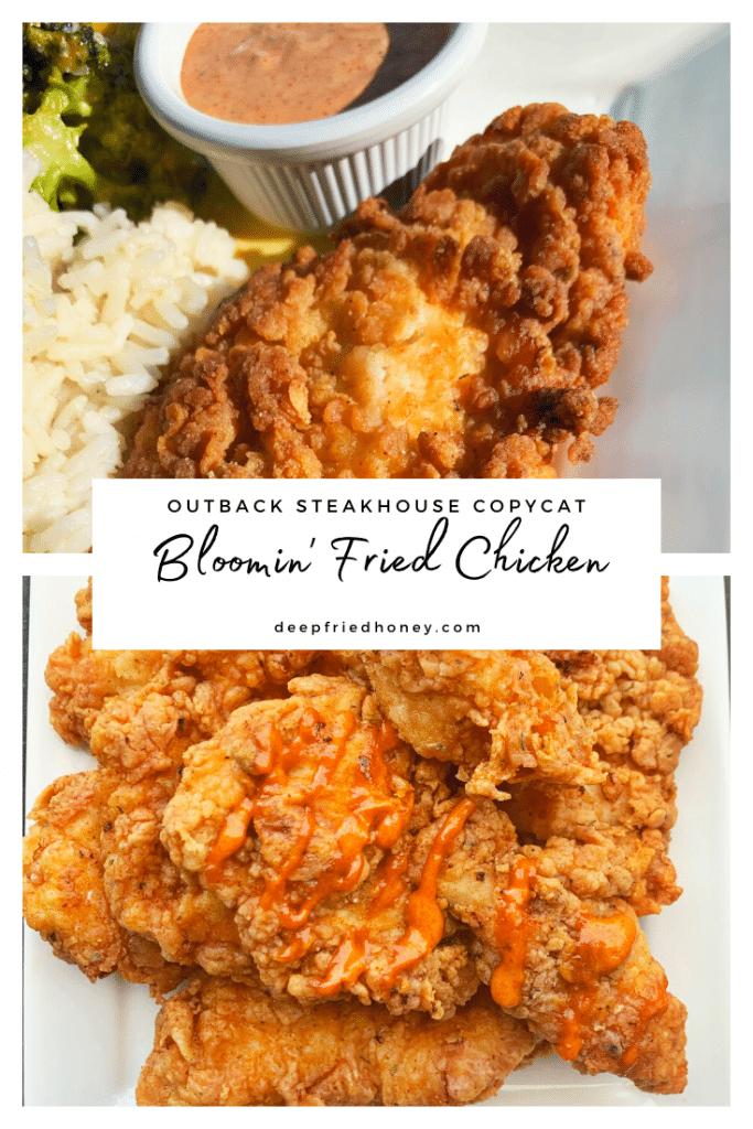 bloomin' fried chicken