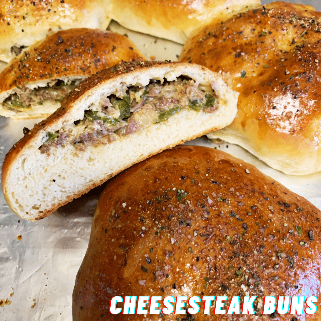 Cheesesteak Stuffed Milk Buns