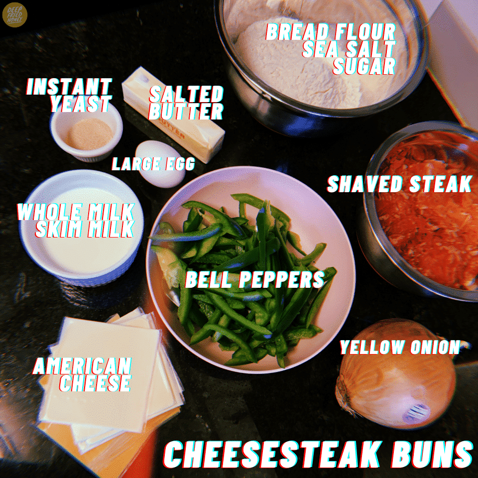 Cheesesteak Stuffed Milk Buns ingredients