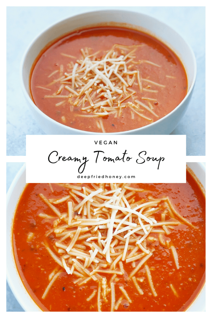 pinterest graphic for Creamy Tomato Soup